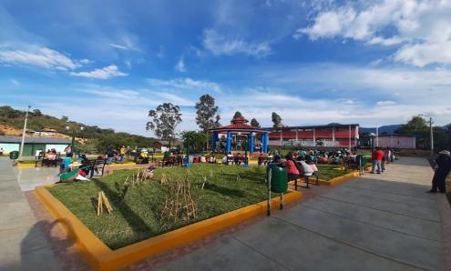 PARQUE DEL CENTRO POBLADO DE HUACAPAMPA – CAÑARIS